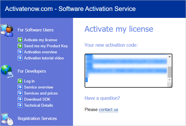 The Link Checker manual activation: getting the activation code