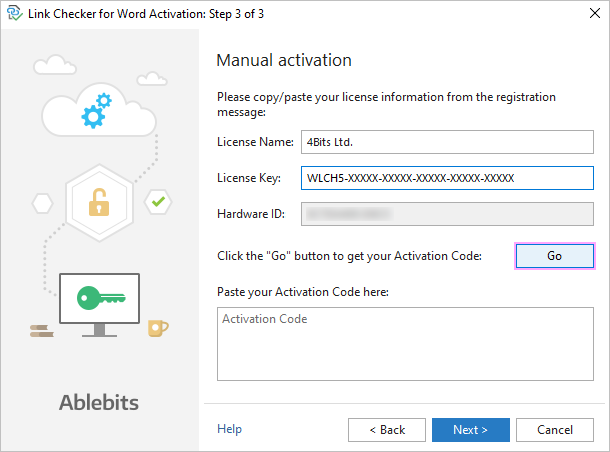 The Link Checker manual activation