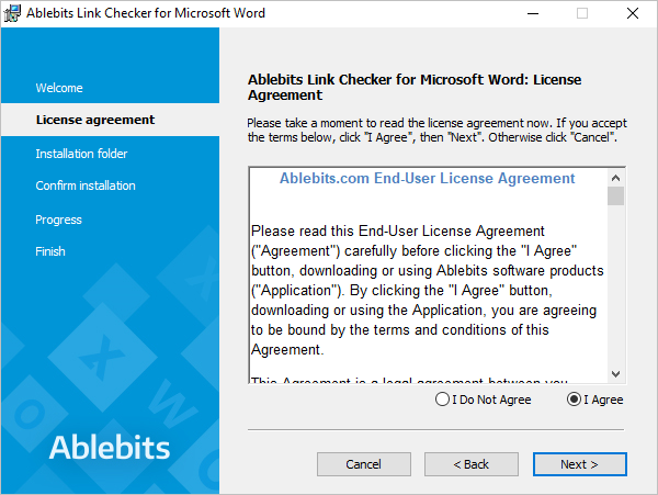 Read the End-User License Agreement.