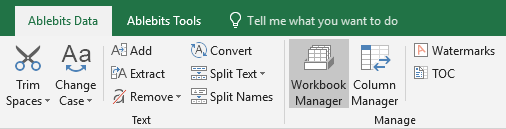 Run the tool by clicking on its icon on Excel ribbon.