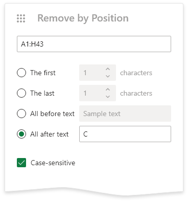 Remove by position