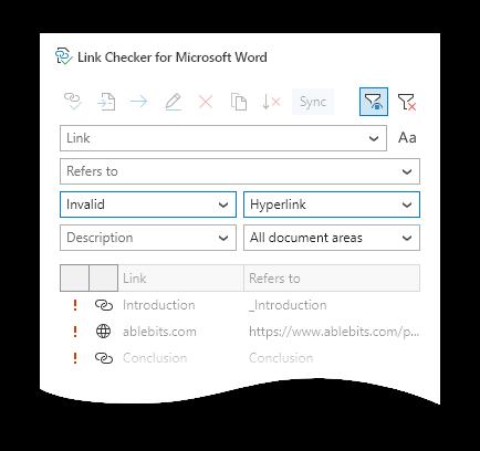 Multi-criteria filtering