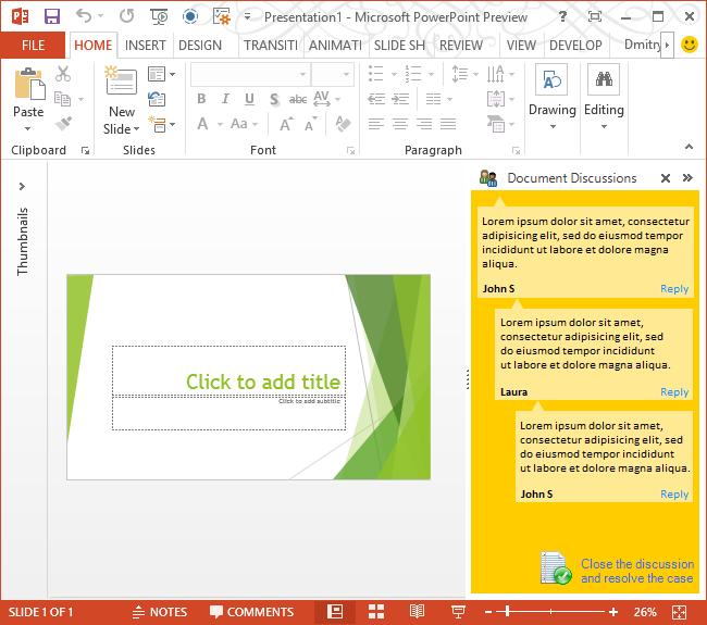 Advanced custom task pane in PowerPoint