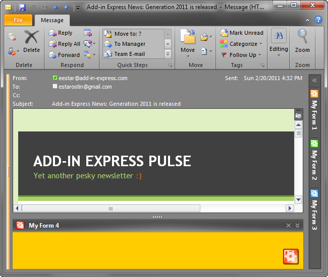 Add-in Express Regions for Outlook