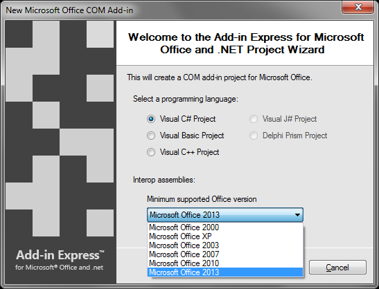 Create add-ins for all Office versions with a single code base