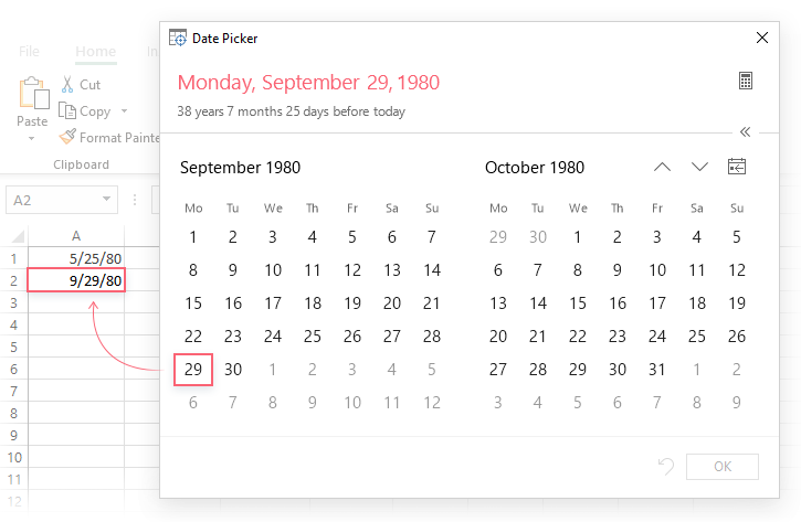 How to insert date in Excel: auto fill dates, enter today's