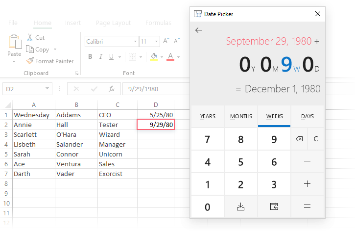 How to insert calendar in Excel (Date Picker & printable
