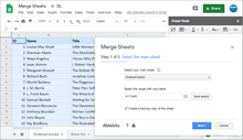 Merge Sheets add-on for Google Sheets