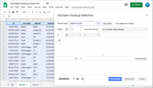 Multiple Vlookup Matches add-on for Google Sheets
